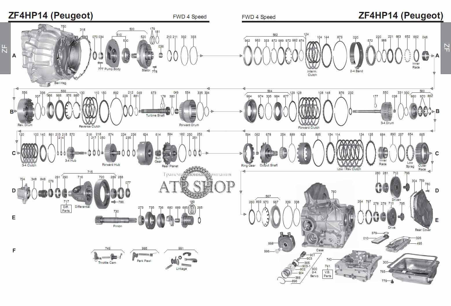 электрическая схема акпп 4r55