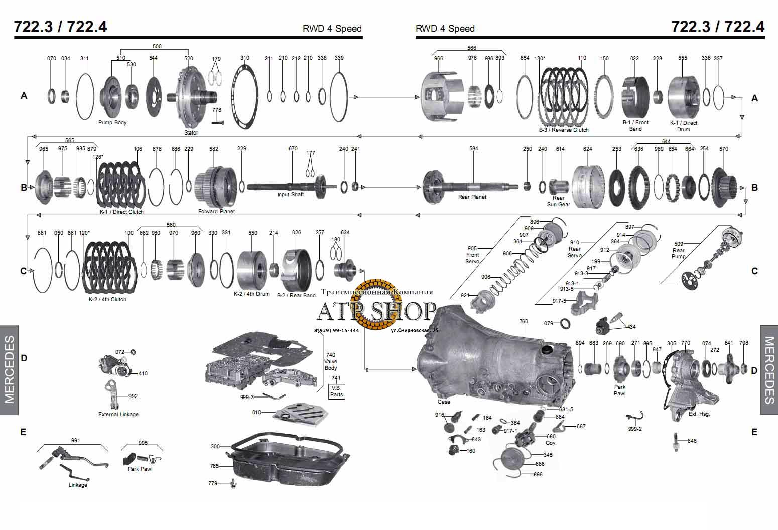 Схема ремонта мерседес
