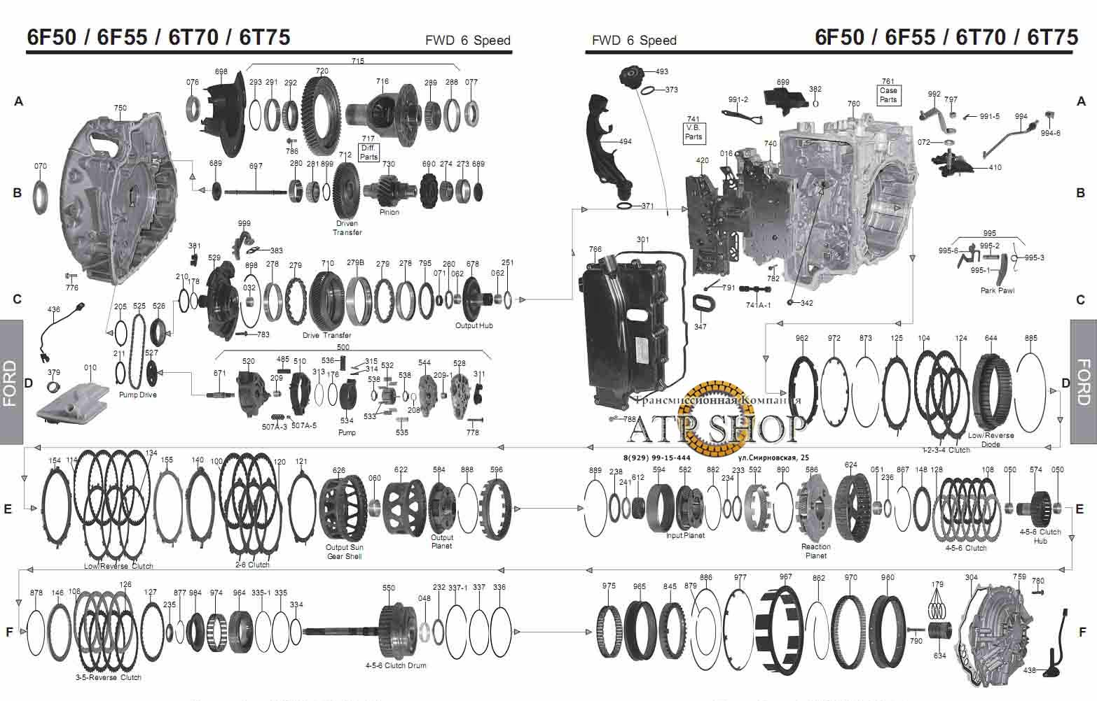 ford 6f50 transmission diagram