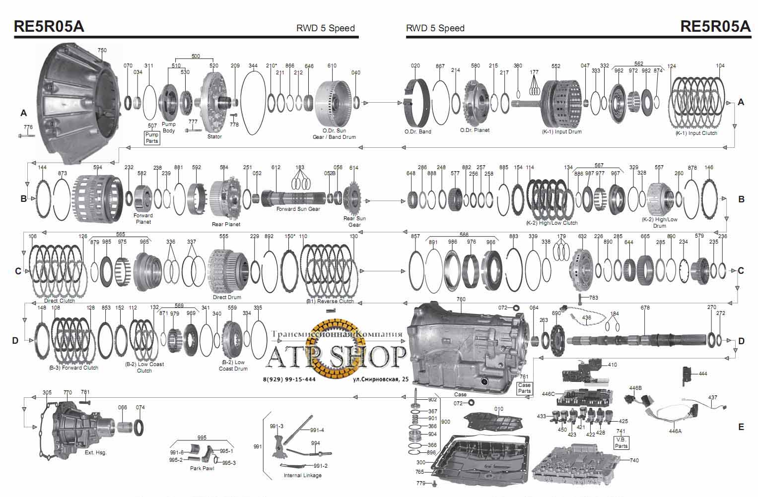 re5ro5a valve body diagram