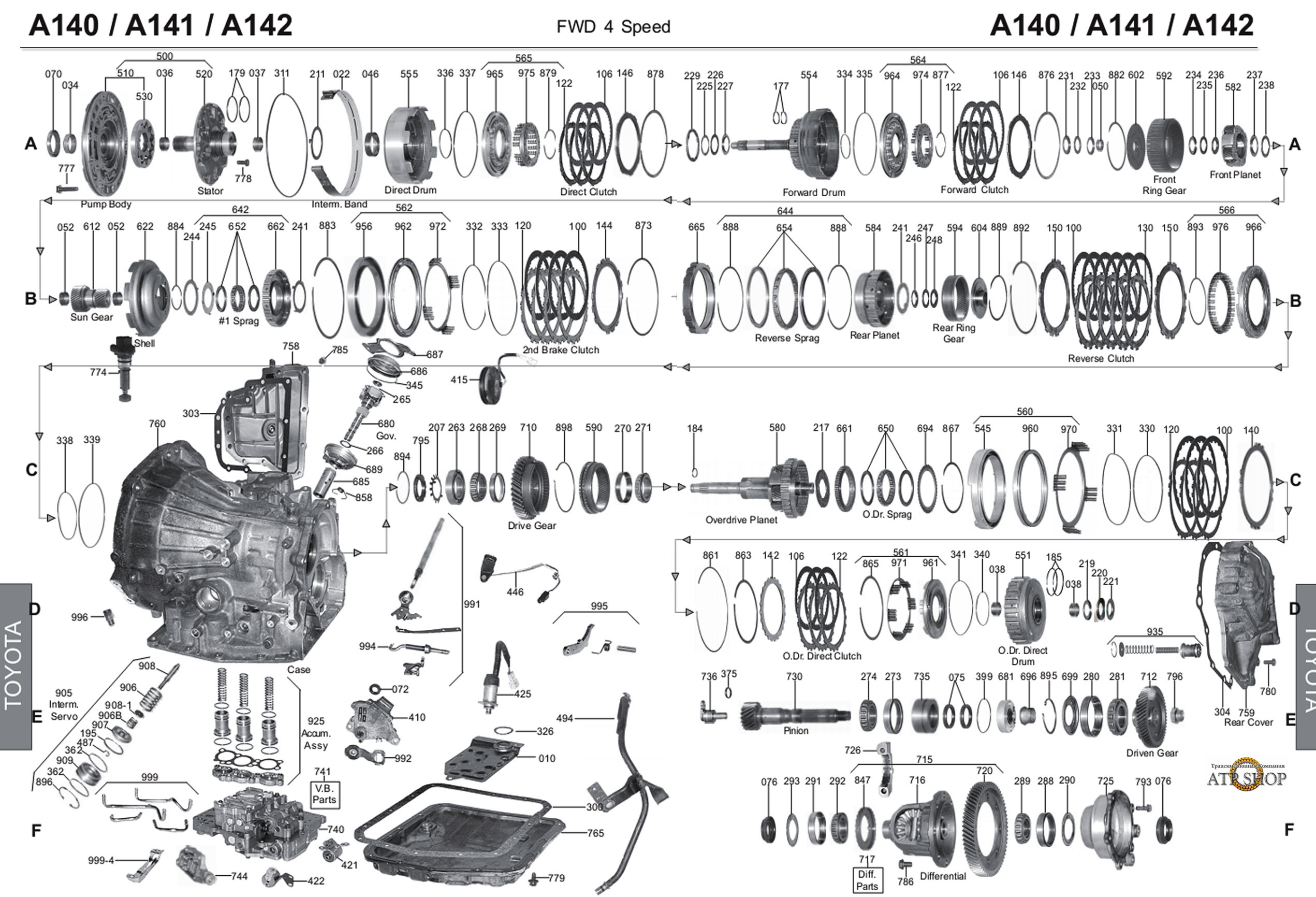 схема разъема соленоидов 3 контакта акпп тойота a240e