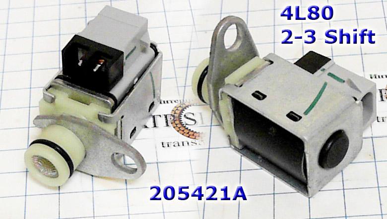 Соленоид-Электроклапан включения пакетов сцеплений (Шифт)  1-2/3-4, Solenoid Shift, 4L80E 1991-up