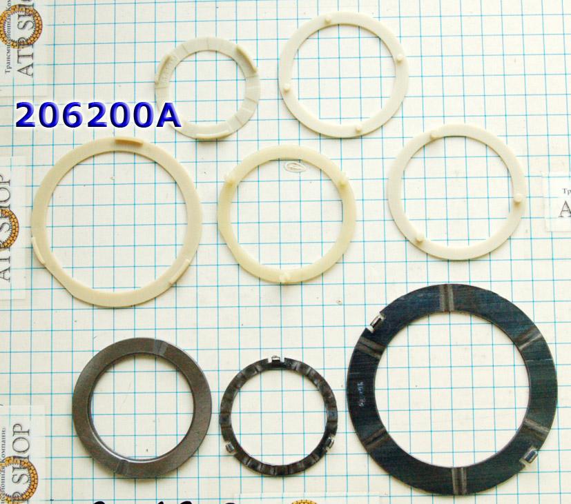 Комплект шайб (подшипников скольжения), 4T65E (5 пластмассовые и 3 металл) 1997-Up