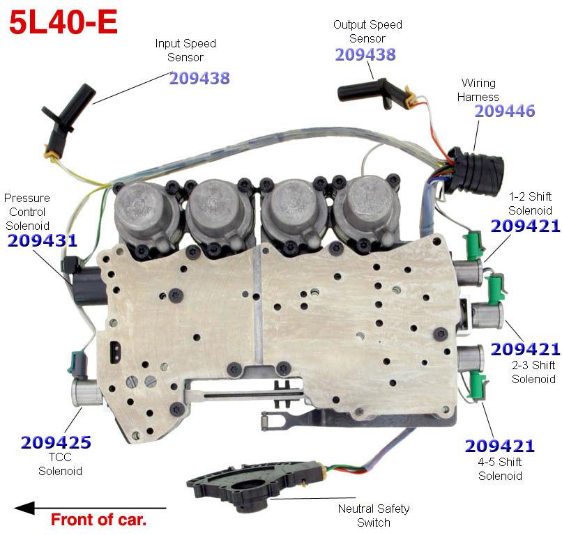 (УВЕЛИЧИТЬ) Раскладка гидроблока 5L40E