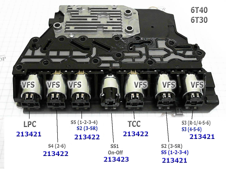Solenoid Connection Plate Блок соленоидов на плате управления 6T40, 6T45E