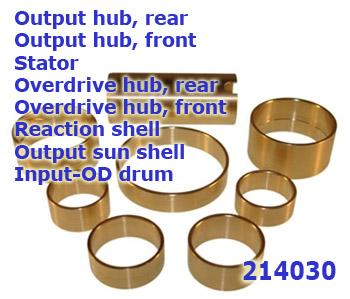 комплект втулок 6F50/55, 6T70/75 07-UP