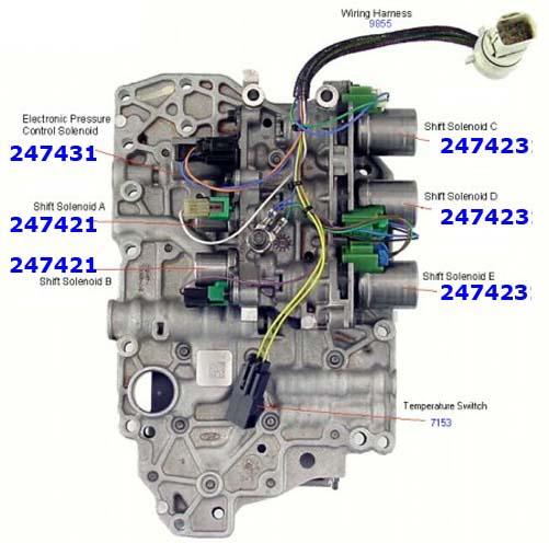 Плита клапанная Valve Body, 4F27E (Ford) (6 Solenoid- с соленоидами) (Cast № XS4P-7A101-AC)