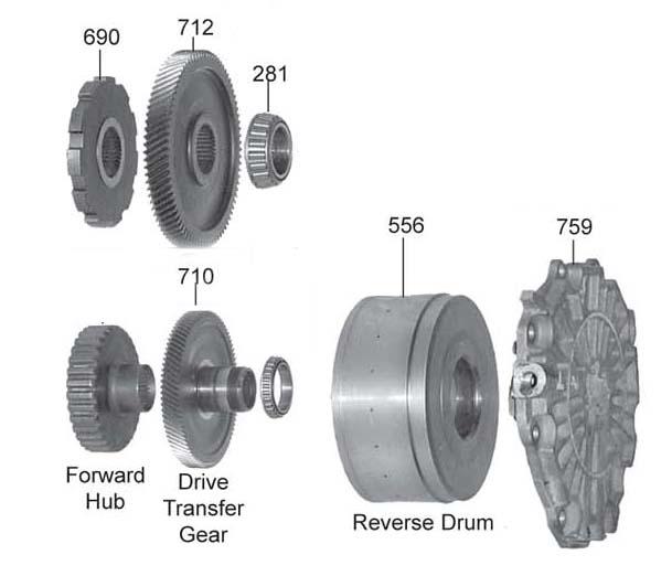 барабан реверс и задняя крышка FN4A-EL