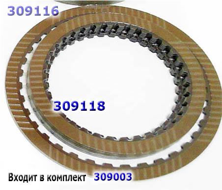 Фрикционный диск, [36Тх1,55х115х147]  2-3-4-6, JR710E/JR711