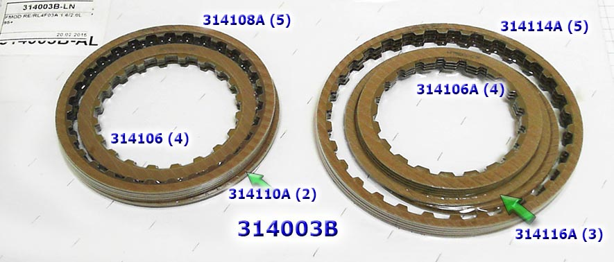Лента тормозная, Overdrive Nissan RE/RL4F03A/V 2000-up (w/ Tab)