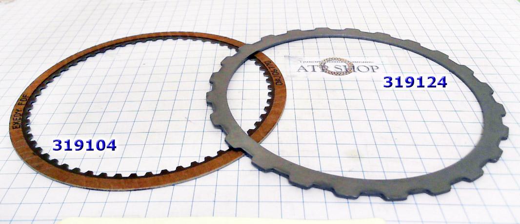 Фрикционный и Стальной  Диски, Friction Steel plate, input (K1) RE5R05A/JR710E/5EAT