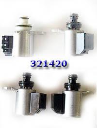 Комплект соленоидов вариатора из 4-х штук, RE0F10A/JF011E (CVT) Nissan, Suzuki, Mits, Dodge, Jeep 2.0L, 2.4L, 2.5L 2007-up