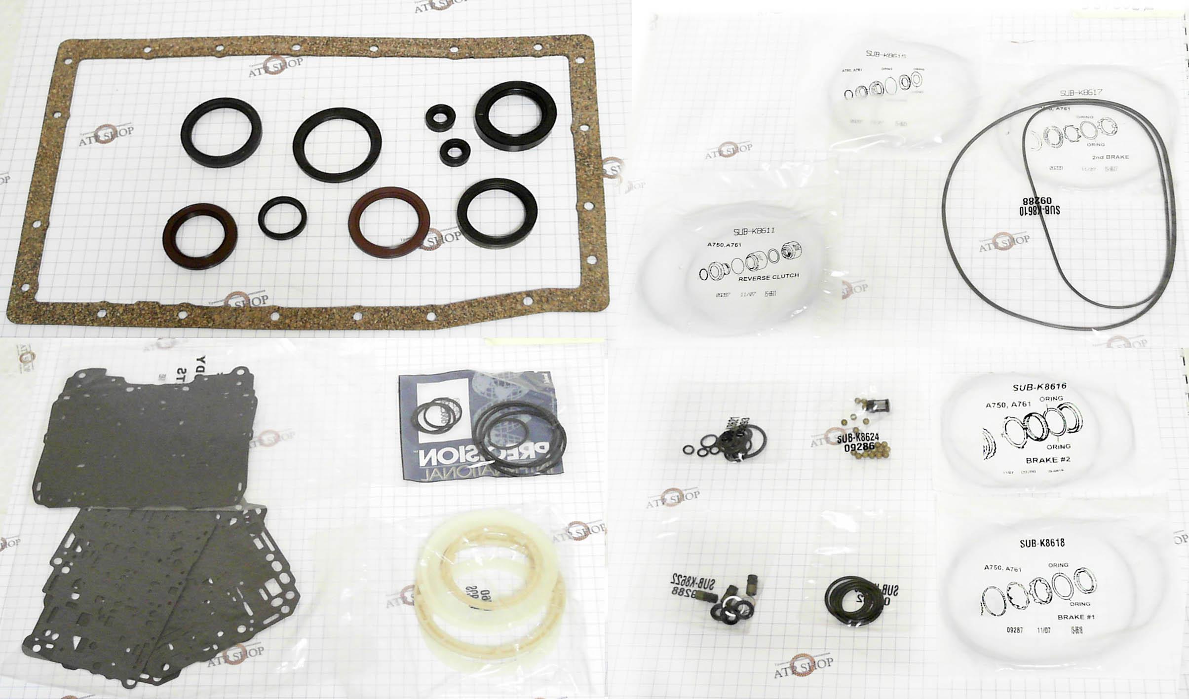 Ремкомплект\ Оверол кит\ Overhaul Kit), A750E/F, A761E TOYOTA,LEXUS 2002-2009