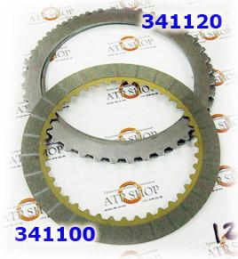Фрикционы и стальные диски  U151E/(U250E Some) Direct/Overdrive Clutch