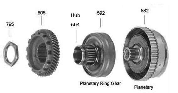 шестерня солнечная и Ринггир  AW80-40LE/AW81-40LE/U440E