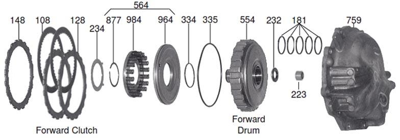 задний барабан с крышкой AW60-40