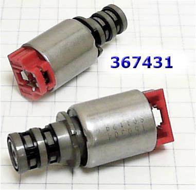 Solenoid A6GF1/A6LF1/F2  Pressure Control Solenoid, с красным разъемом(общая длина 64мм) 2007-up #367431-EM
