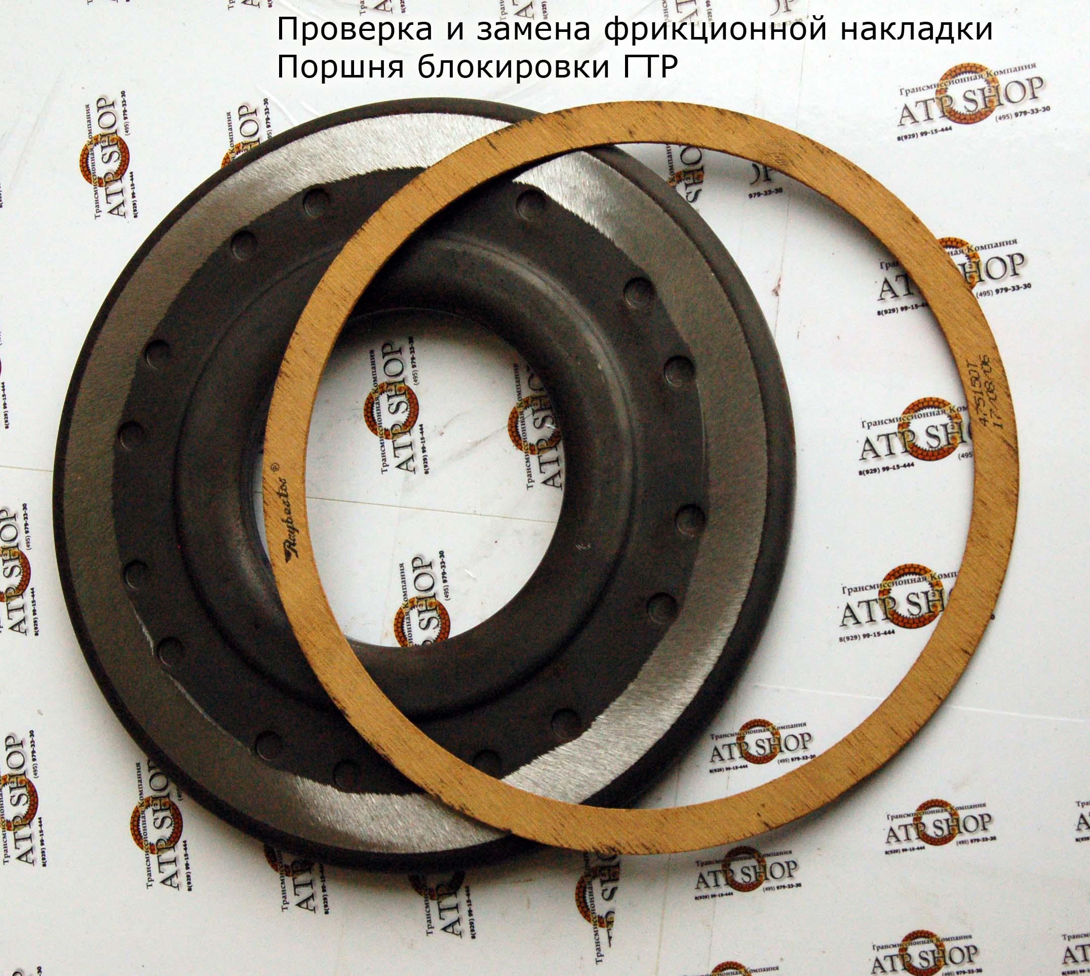 Гидротрансформатор Поршень и фрикцион блокировки