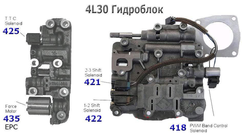 Гидроблок Valve body 4L30E