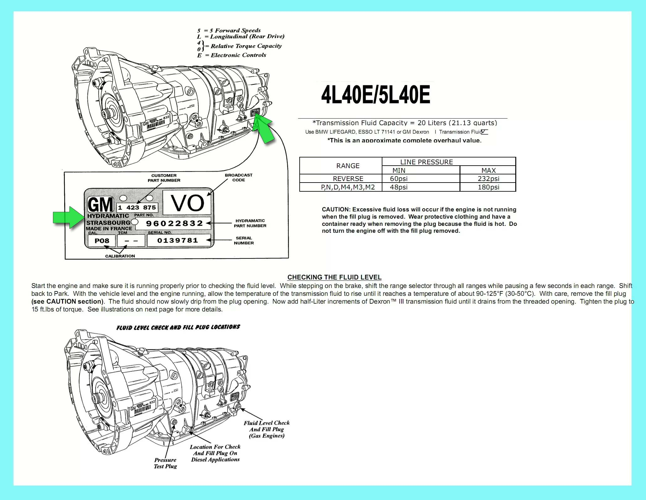 5l40e Bmw X5 5l50e L6 20 Wiring Diagram