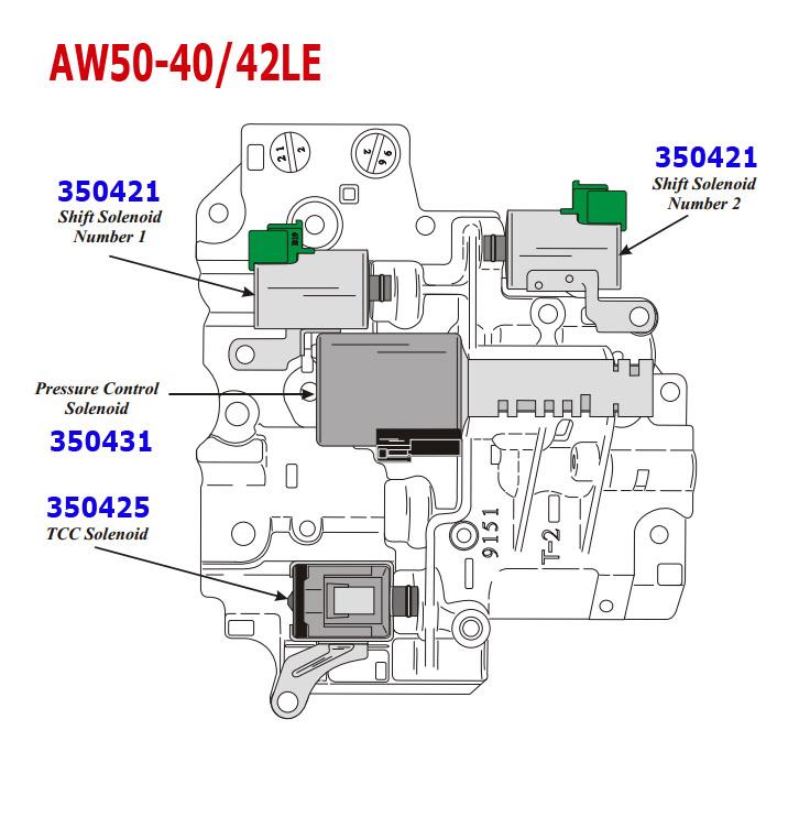 Гидроблок АКПП AW50-40 /42LE