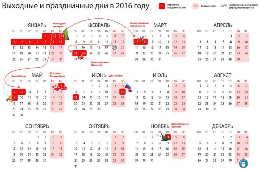 Выходные 2016