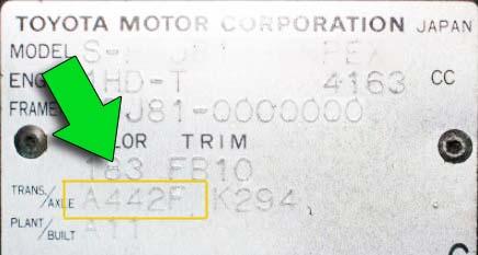 ID plates A442F