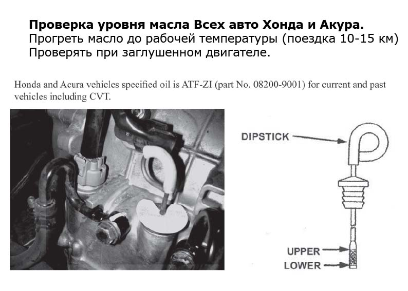 Хонда проверка уровня масла