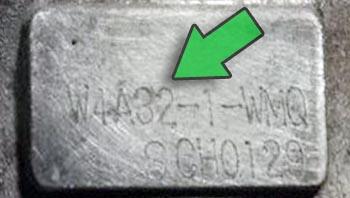 Табличка АКПП W4A32-1