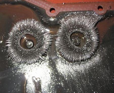 Ежики стружки на магнитах поддона АКПП