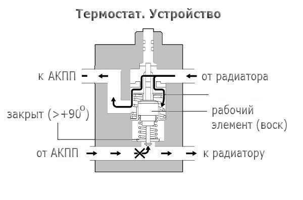 схема работы и устройство термостата