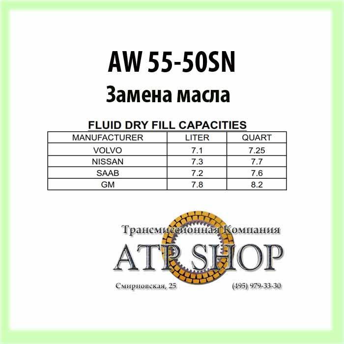 (Замена масла) АКПП AW 55-50SN